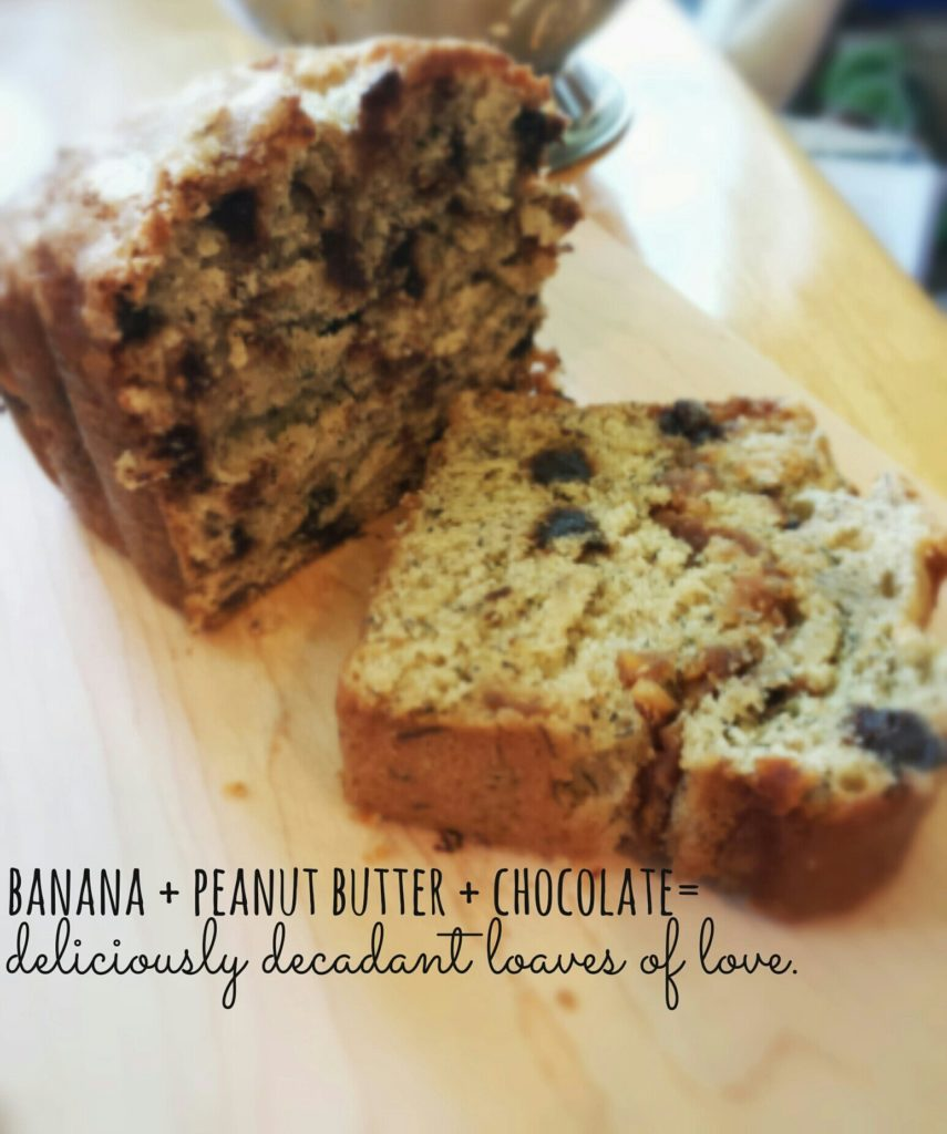 peanut butter, chocolate banana bread recipe.