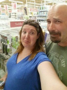Hubs and I were more than a little overwhelmed shopping at Babies R Us.