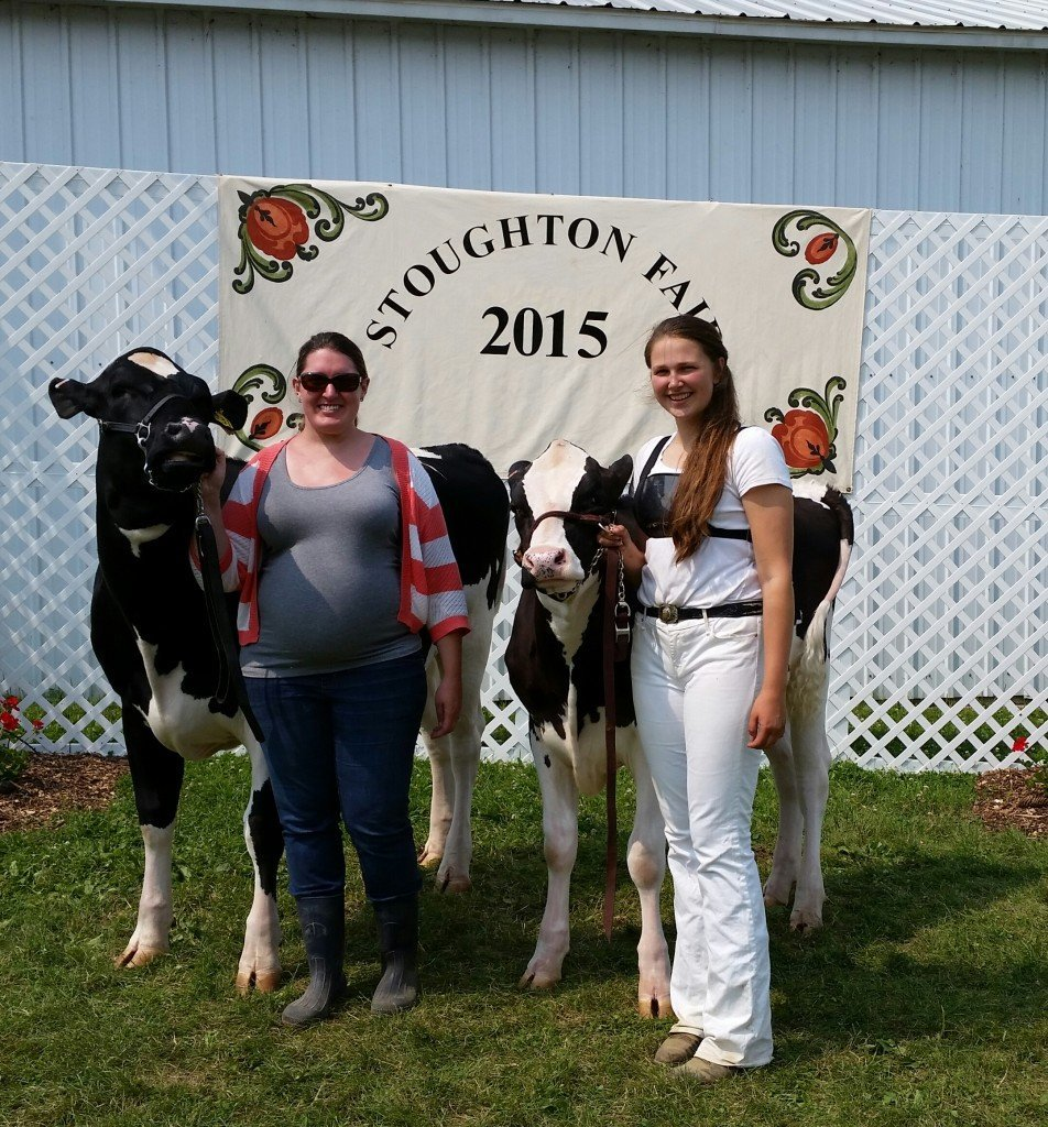 Sarah showed our heifers at the Stoughton Jr Fair for the third year.