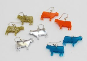 cow art and more earrings